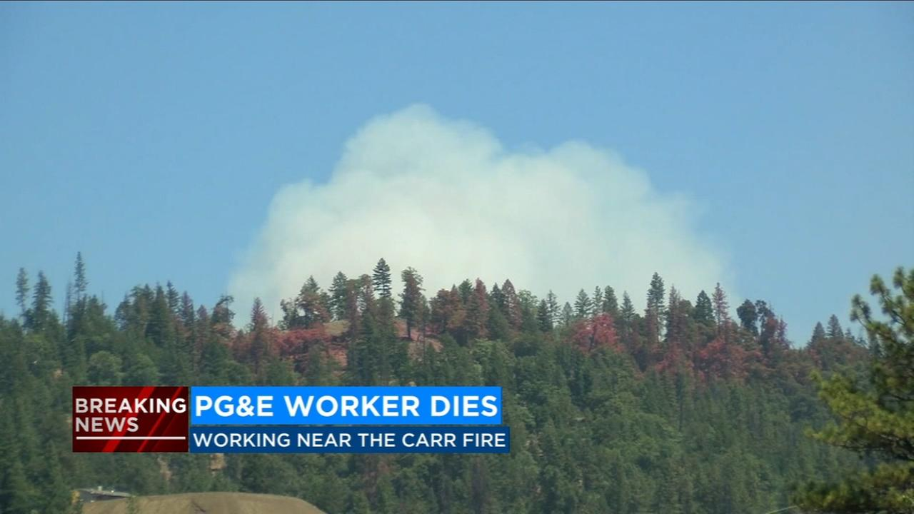 PG&E employee dies while working in the area of the Carr Fire in Shasta County