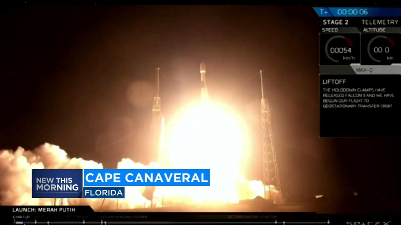 Space X launches new rocket to put satellite in orbit