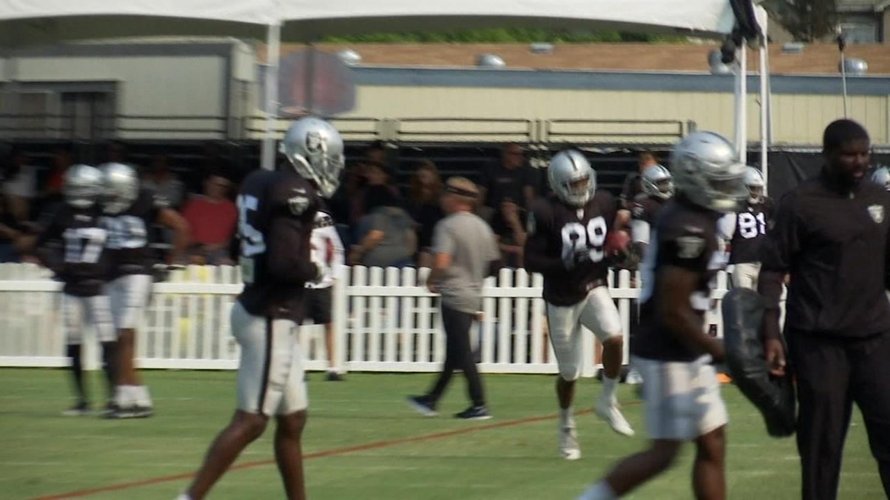 Raiders, Lions hold joint practice in Napa