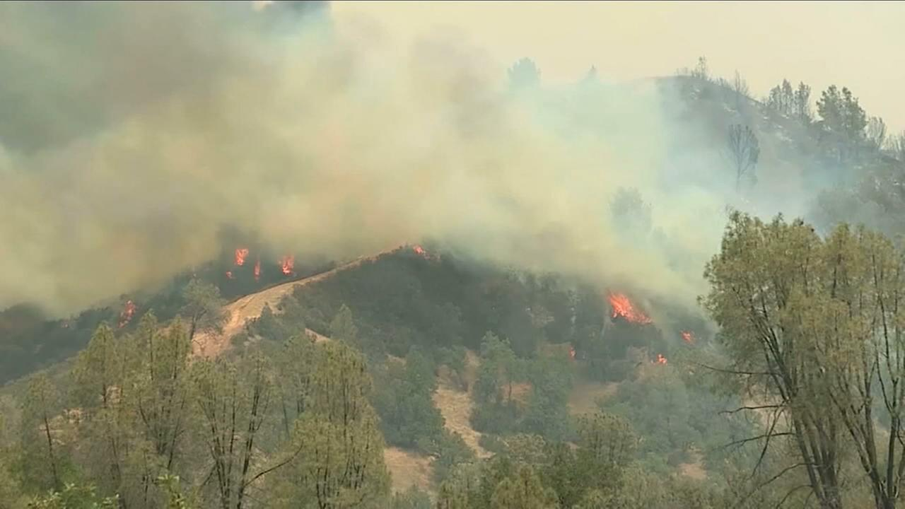 Smoke from several California wildfires trapped in the Central Valley