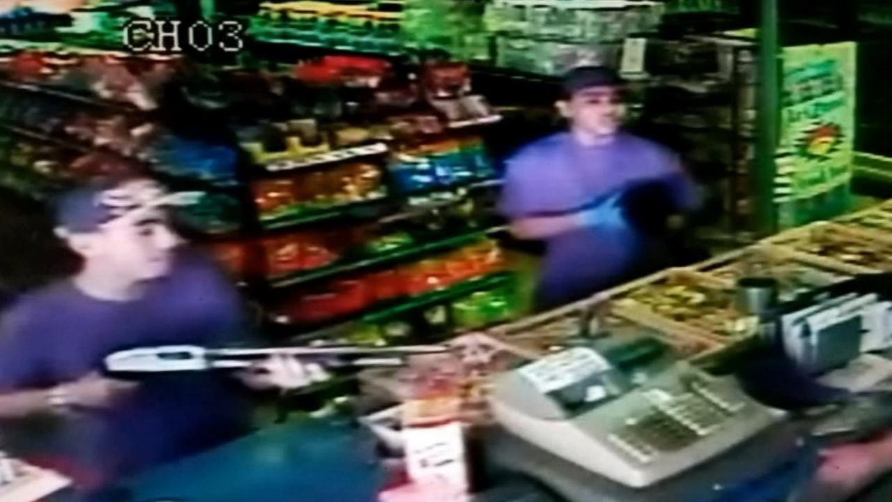 Police searching for two suspects following set of robberies within 30 minute span