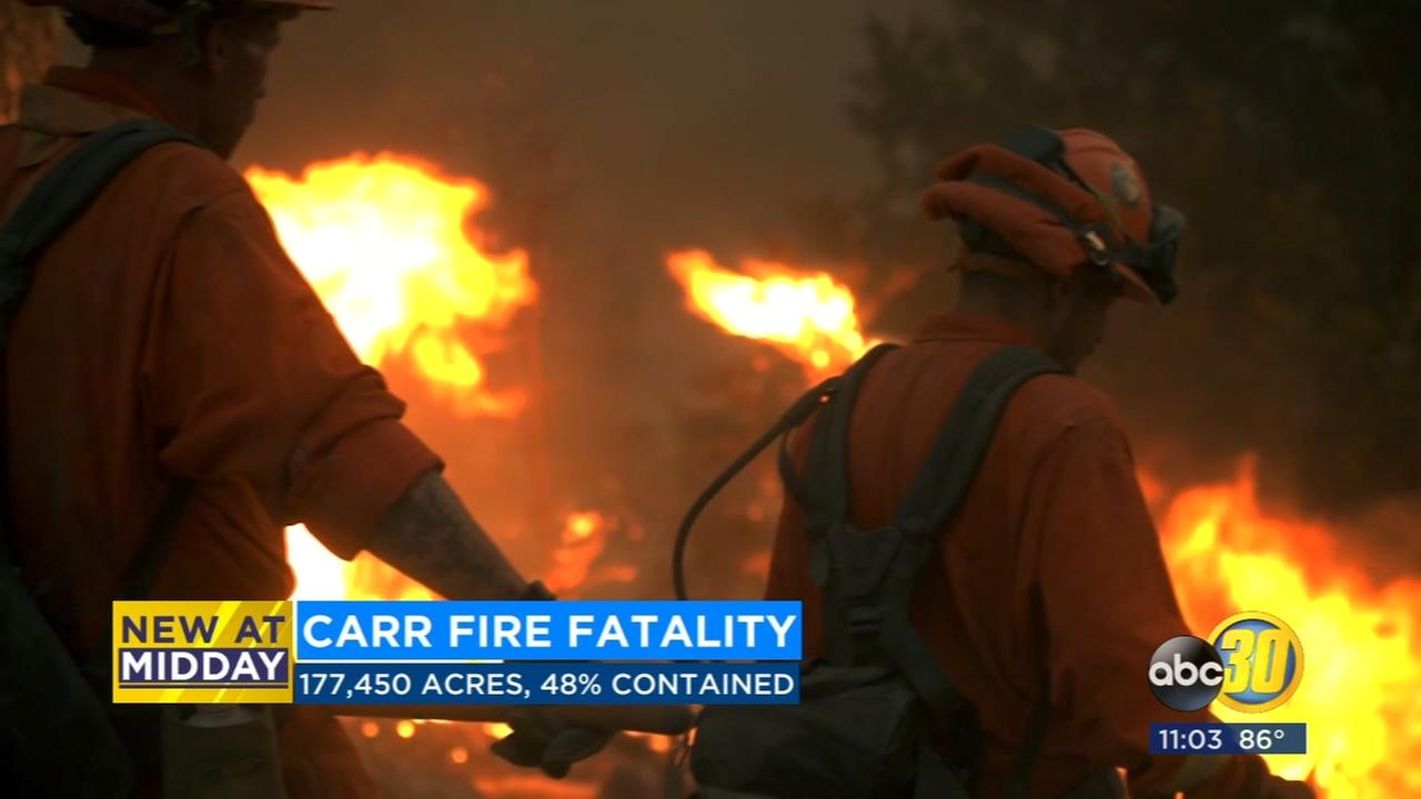 Firefighter that was working on Carr Fire killed in traffic accident