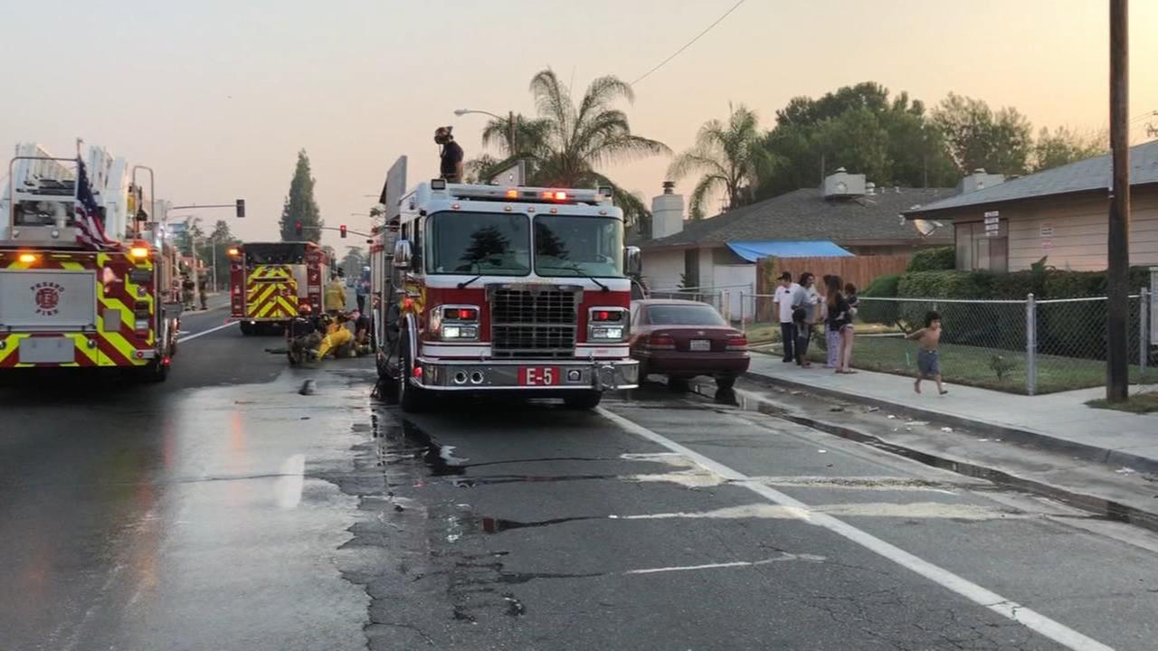 13 people displaced after apartment fire in Central Fresno