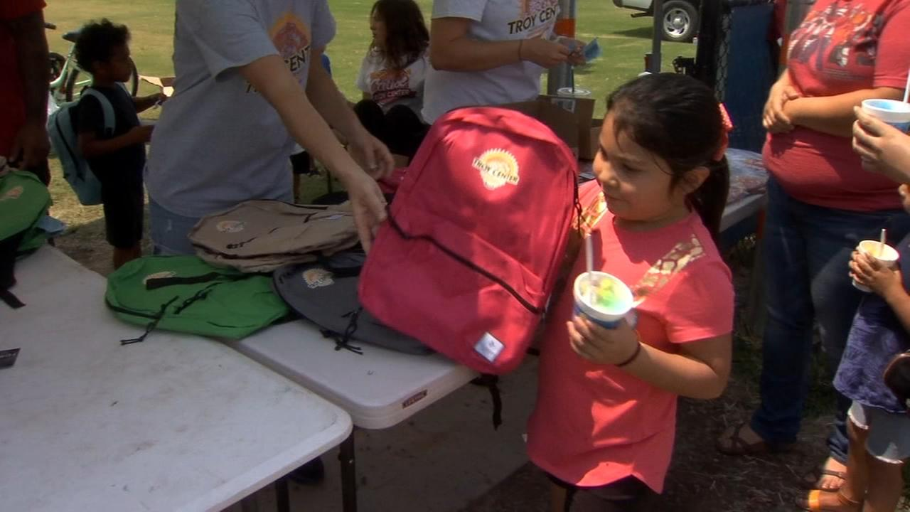 Backpack and supply giveaway at Fresno State