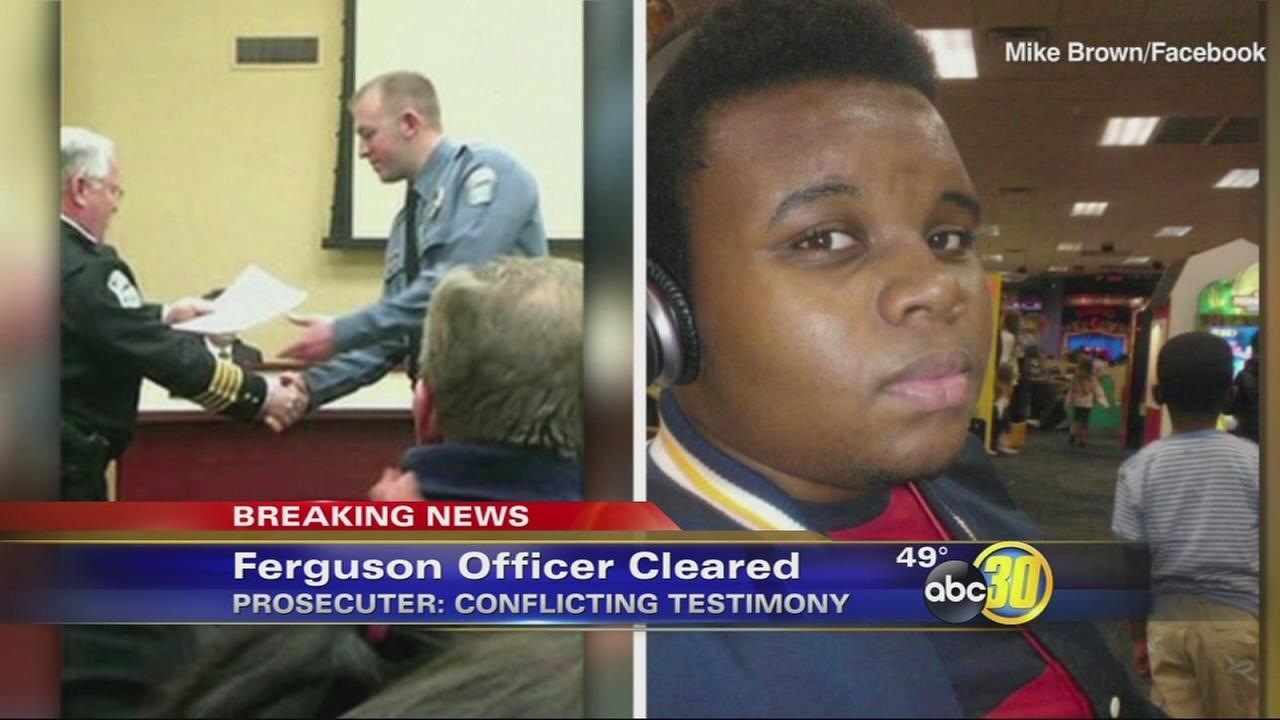 Grand jury wont indict Ferguson cop in shooting