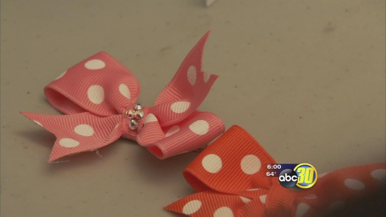 Friends use bows to honor girl killed in Fresno crash