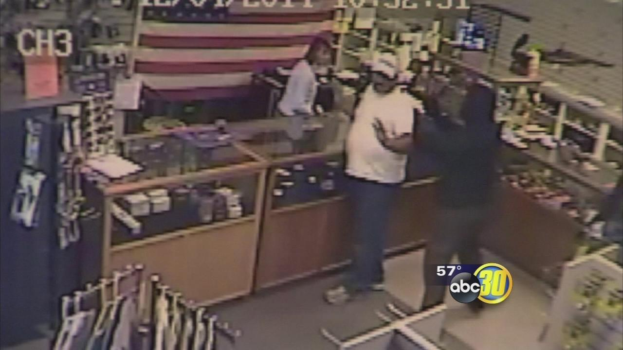 Armed men make off with pillowcase full of guns in Fresno Firearms robbery
