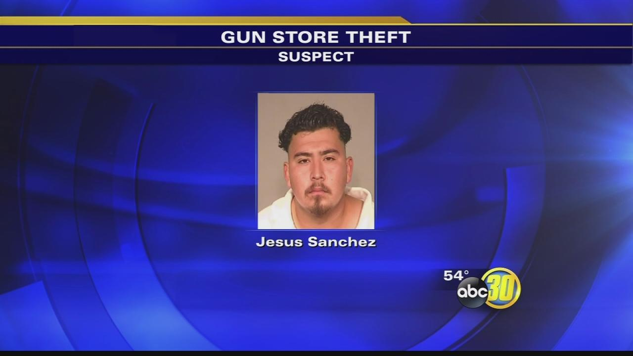 Fresno gun store theft lands man in jail, 2 robbers still sought