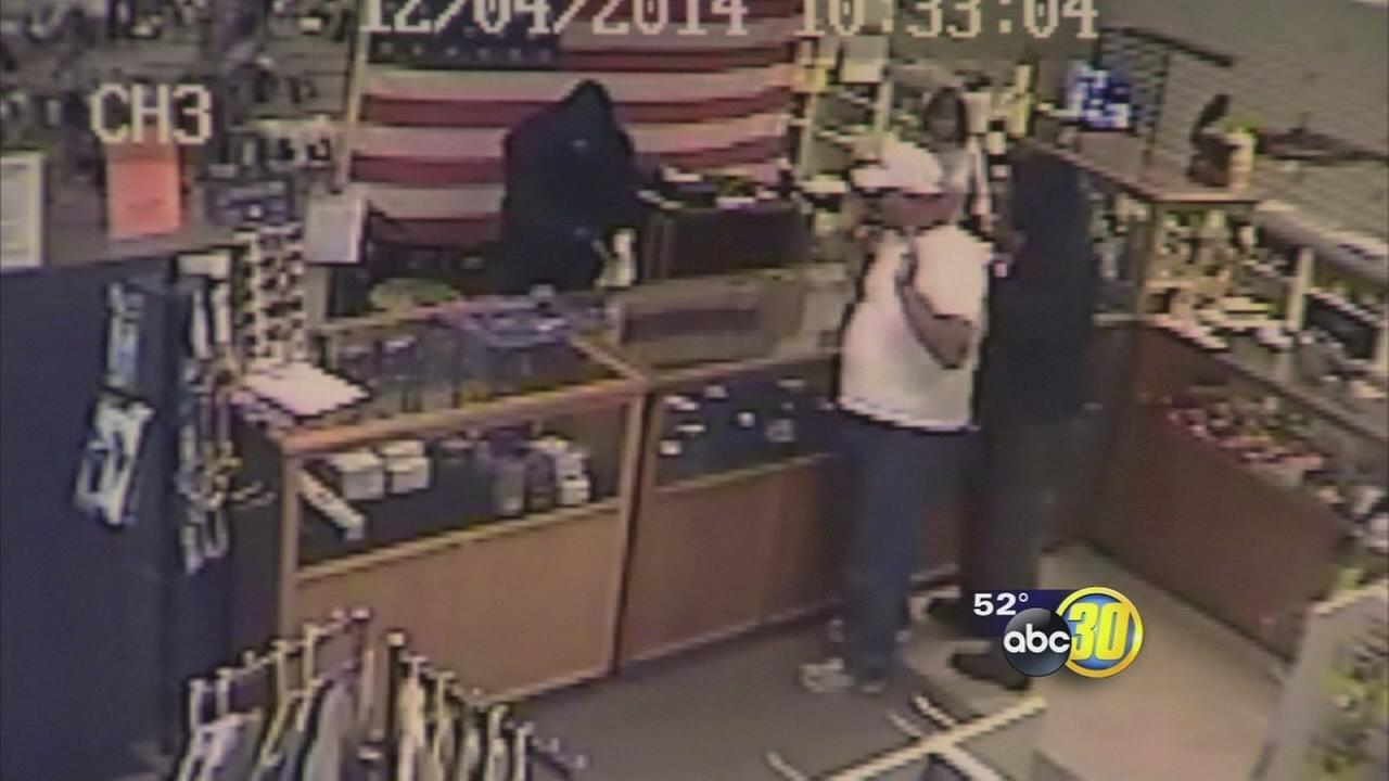 Police release new leads on armed gun store robbers