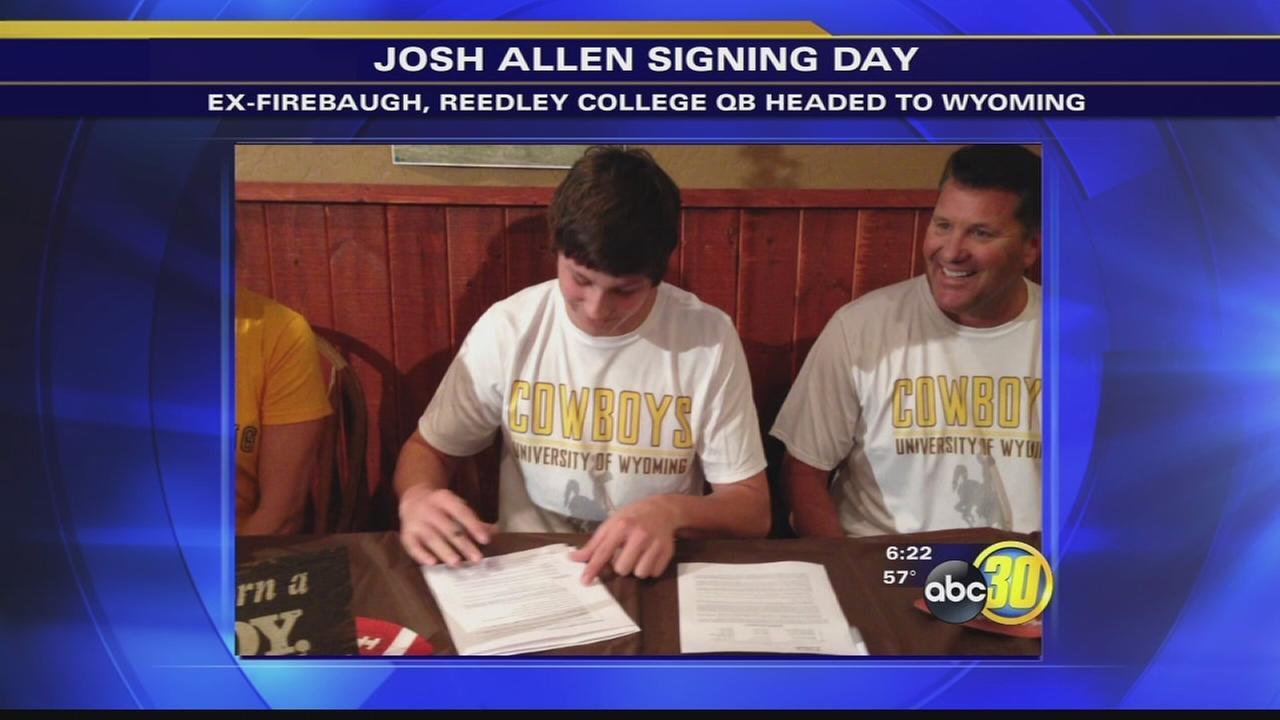 Former Firebaugh, Reedley College star QB Josh Allen heading to Wyoming