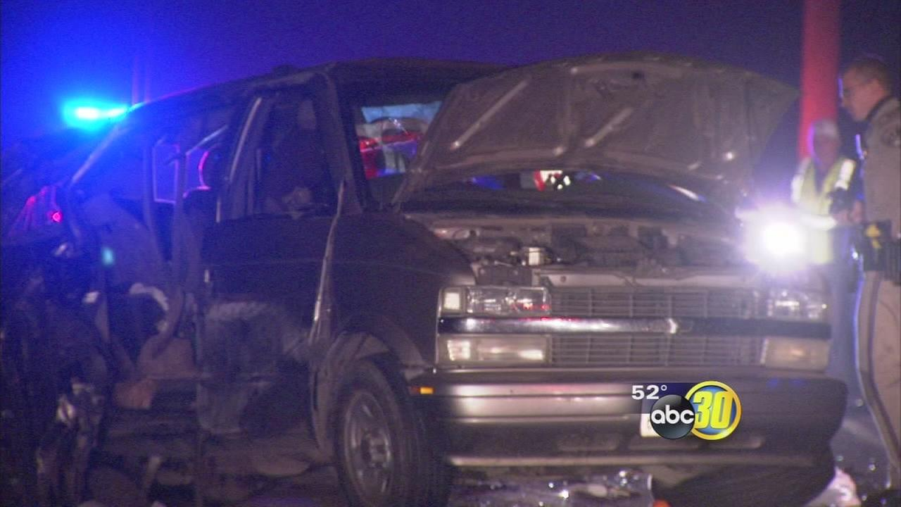 Four people are dead after a collision in Fresno County