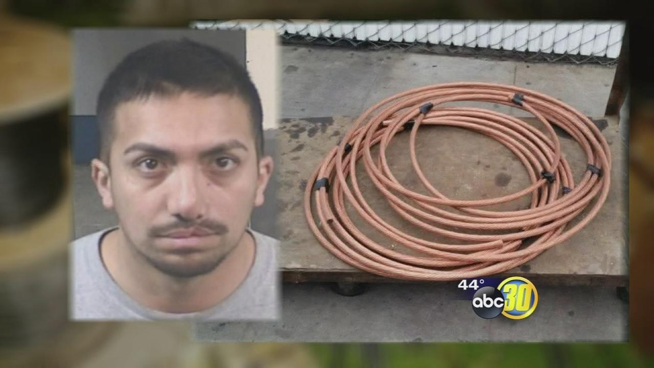 Fresno electrician facing felony copper wire theft charges