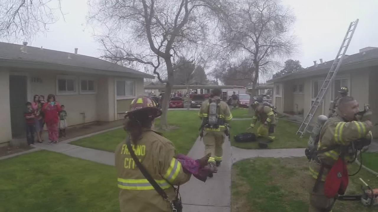 Watch As Fresno Firefighters Helmetcam Captures Rescue of 3 Children from Apartment Fire