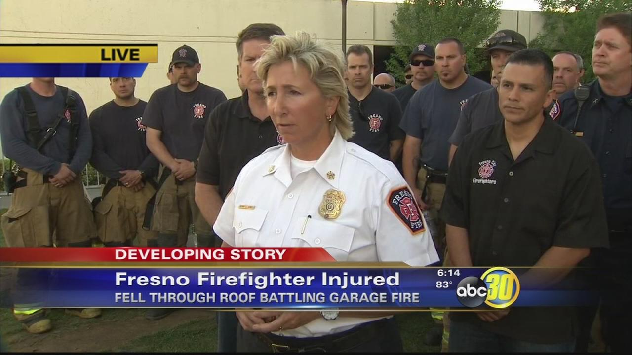 Fresno Fire provides update on injured firefighters condition