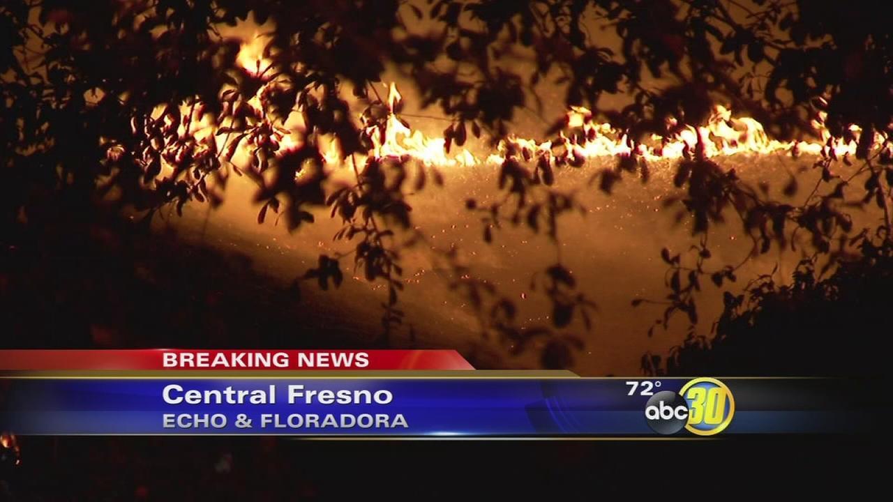 Central Fresno fire