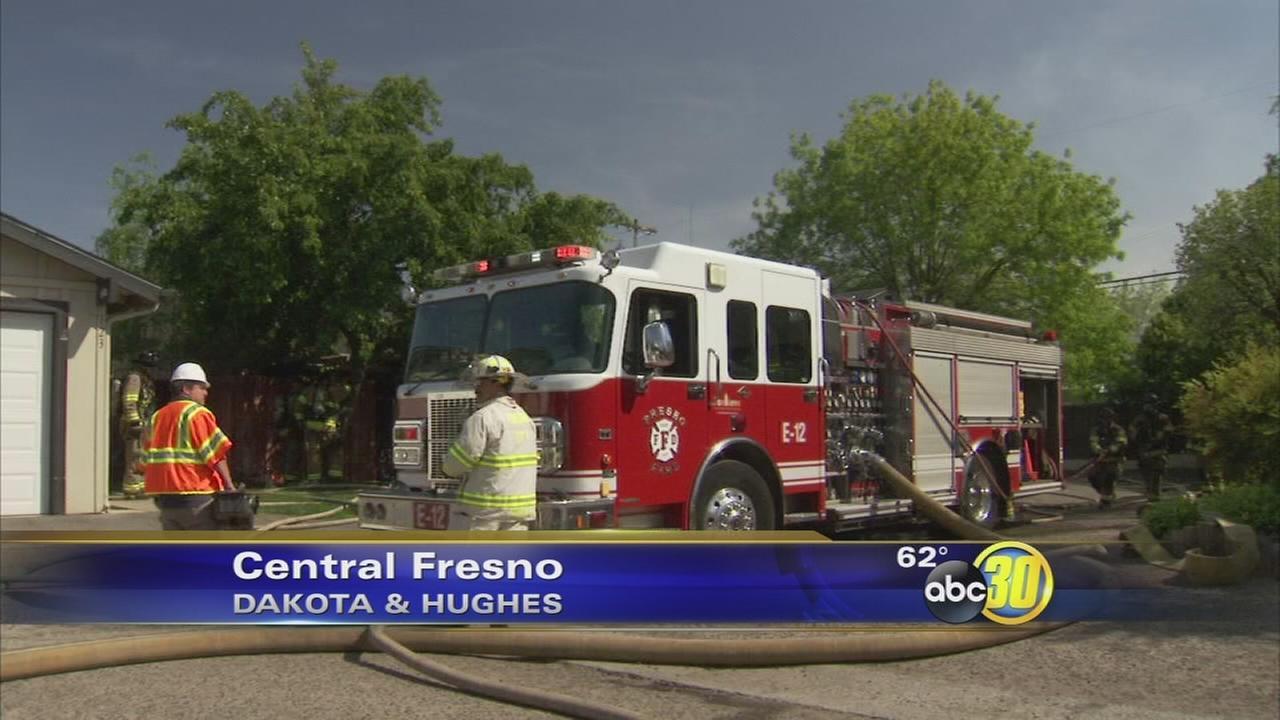 Central Fresno condominium fire displaces 2 families
