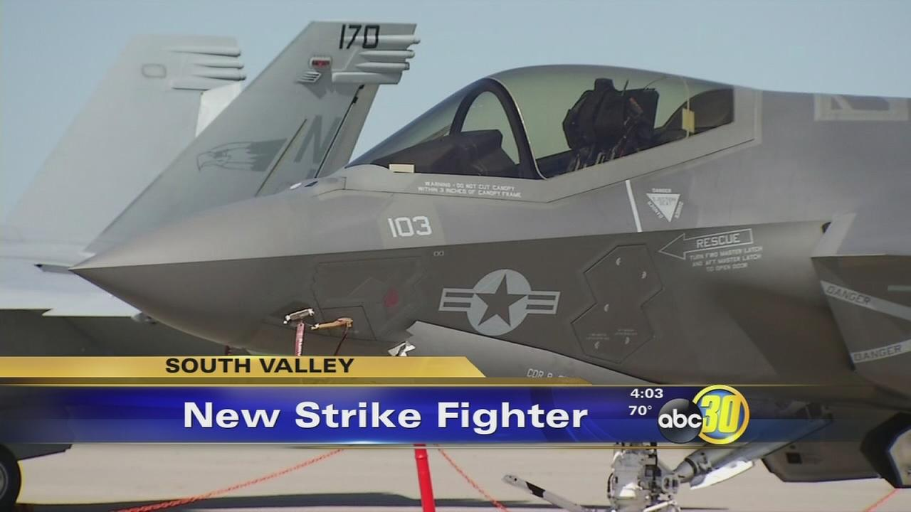 F35s shown off at Lemoore Naval Air Station
