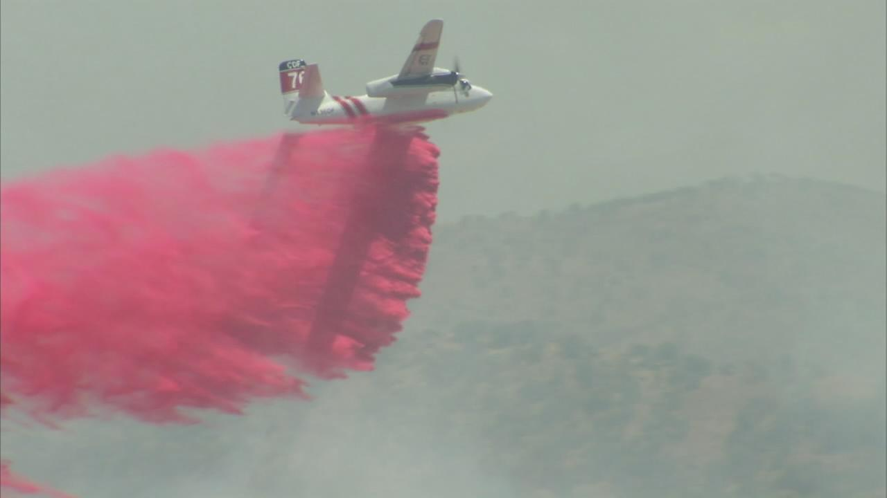 RAW VIDEO: Grass fires burn in Fresno County