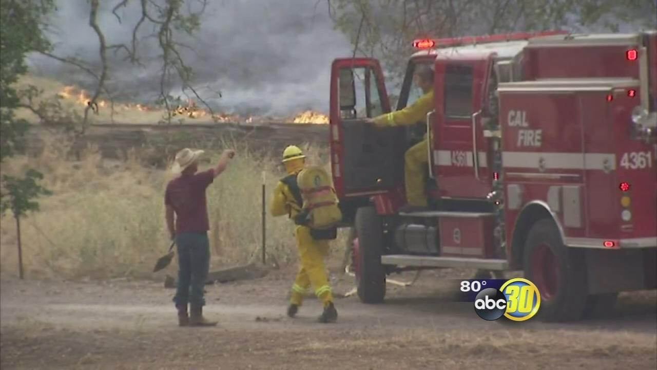 Lightning sparked fires in Auberry and Prather areas, officials say