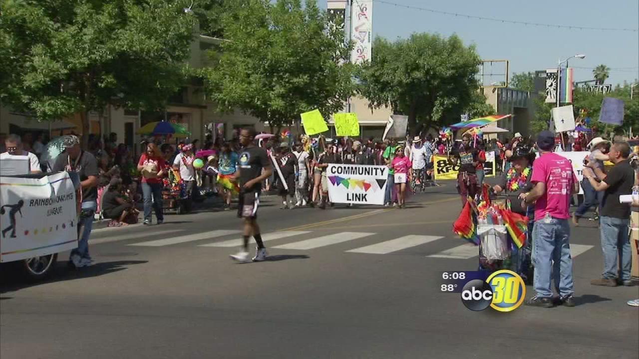 Fresno gay pride parade draws hundreds to Tower District