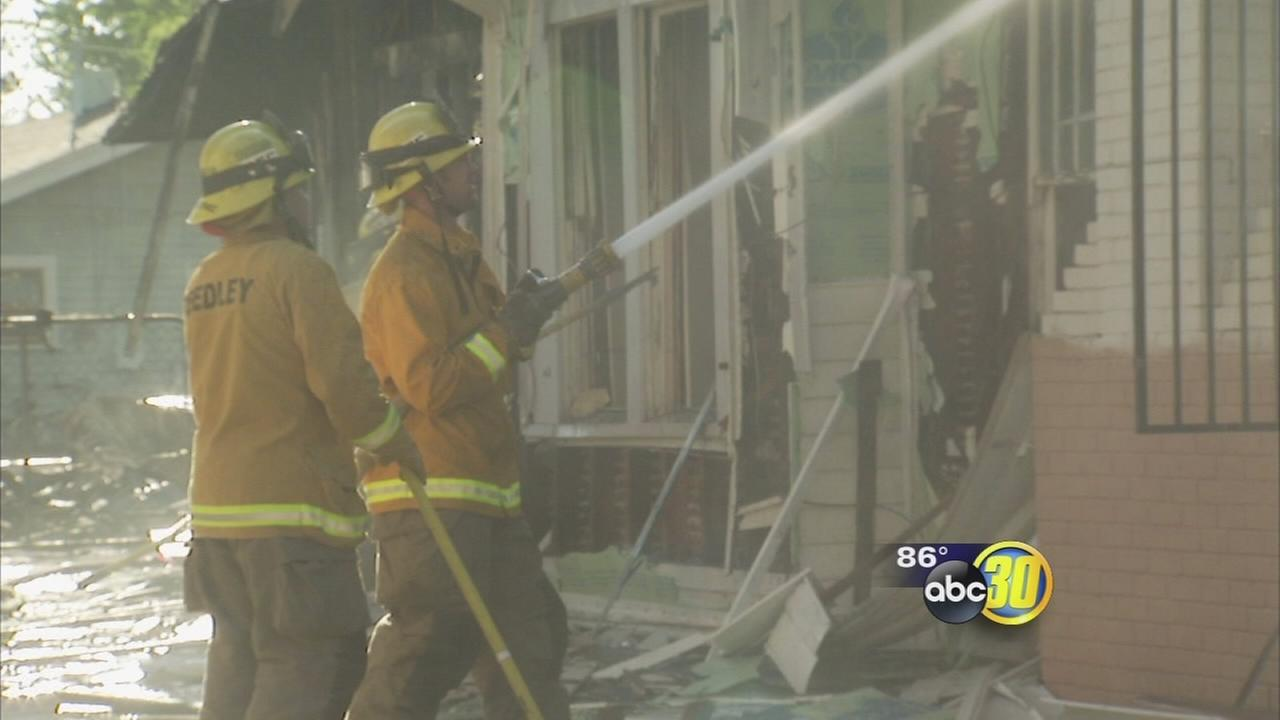 Fire damages several homes in Central Fresno