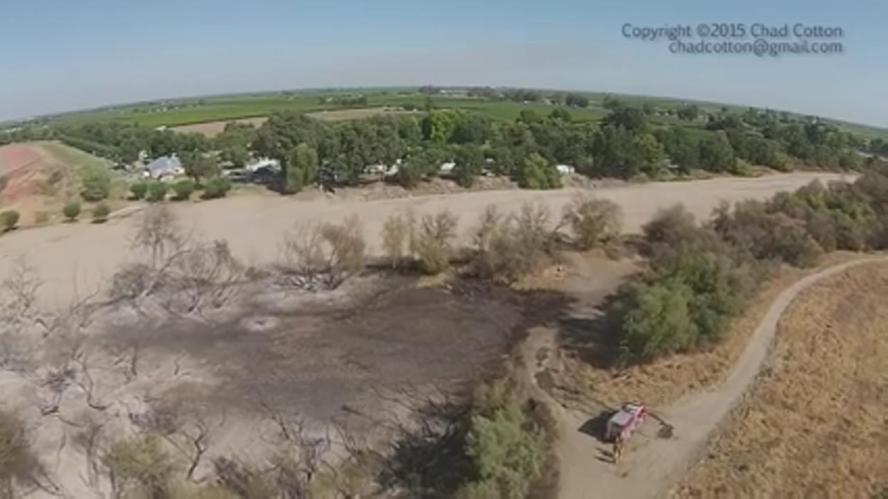 DRONE VIDEO: Fire near Kings River