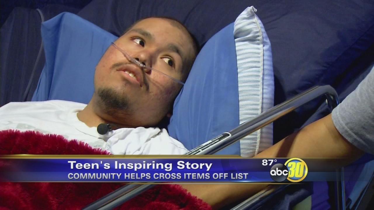 Cancer patient Alex Fernandez makes progress on his bucket list
