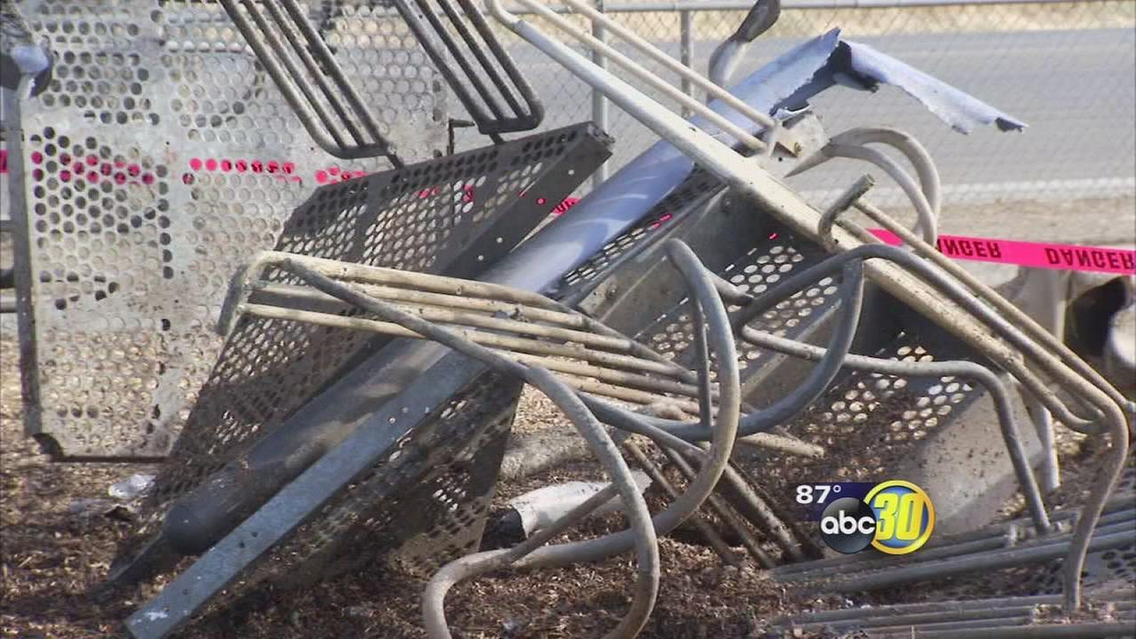 Fire destroys playground at Hinton Community Center in Southwest Fresno