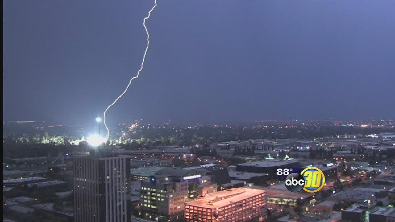 Lightning Storm Rolls Through Fresno