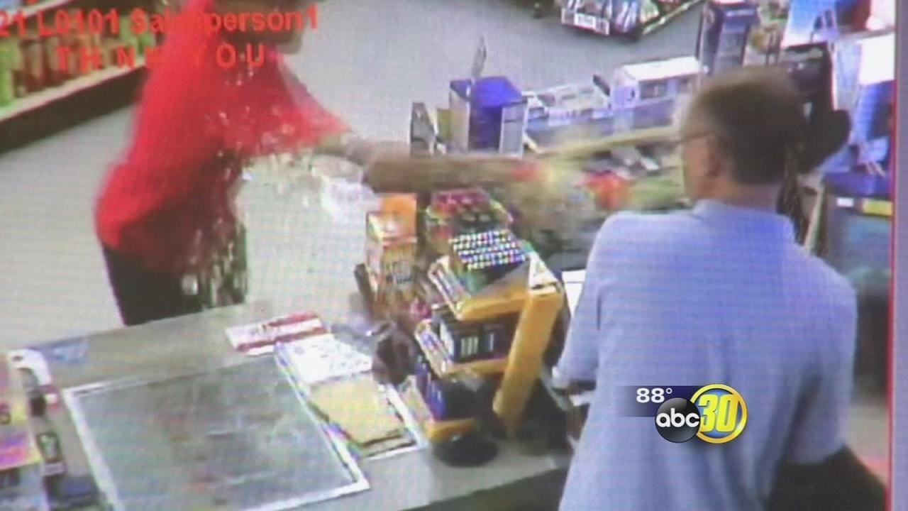 Suspect uses Mountain Dew to rob a mini-mart in Madera