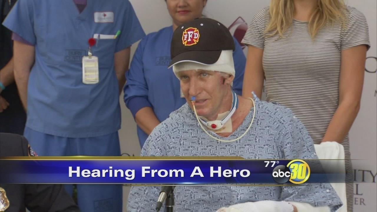 Fresno Fire Captain Pete Dern thanks community, burn center
