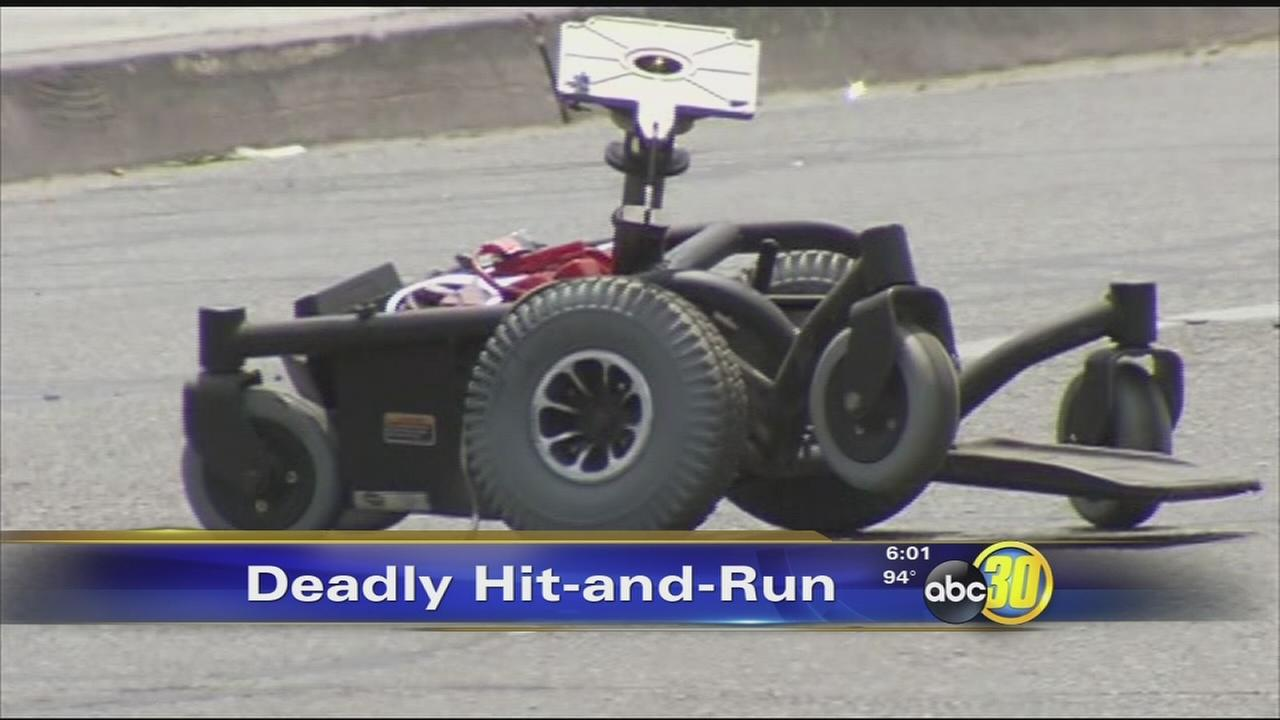 Man in motorized wheelchair killed in Central Fresno hit-and-run crash