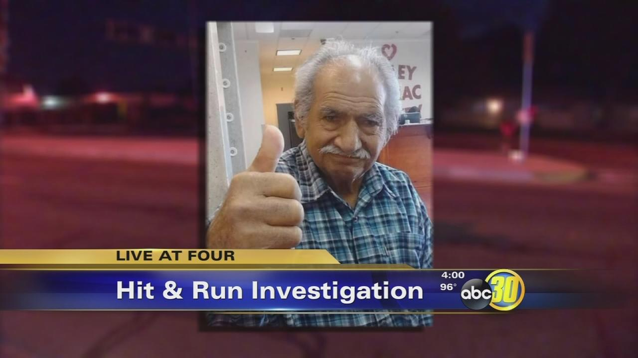 Searching for suspect who ran down a military veteran in Fresno