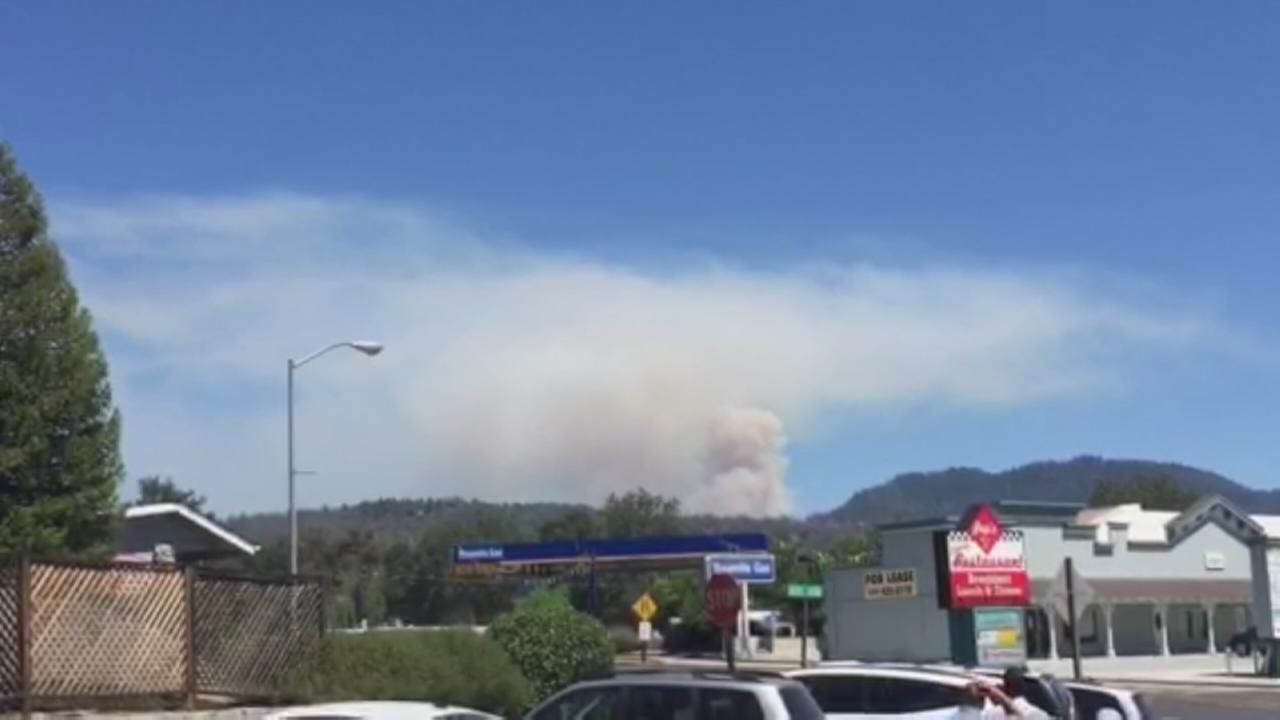 RAW VIDEO: Wildfire near Bass Lake