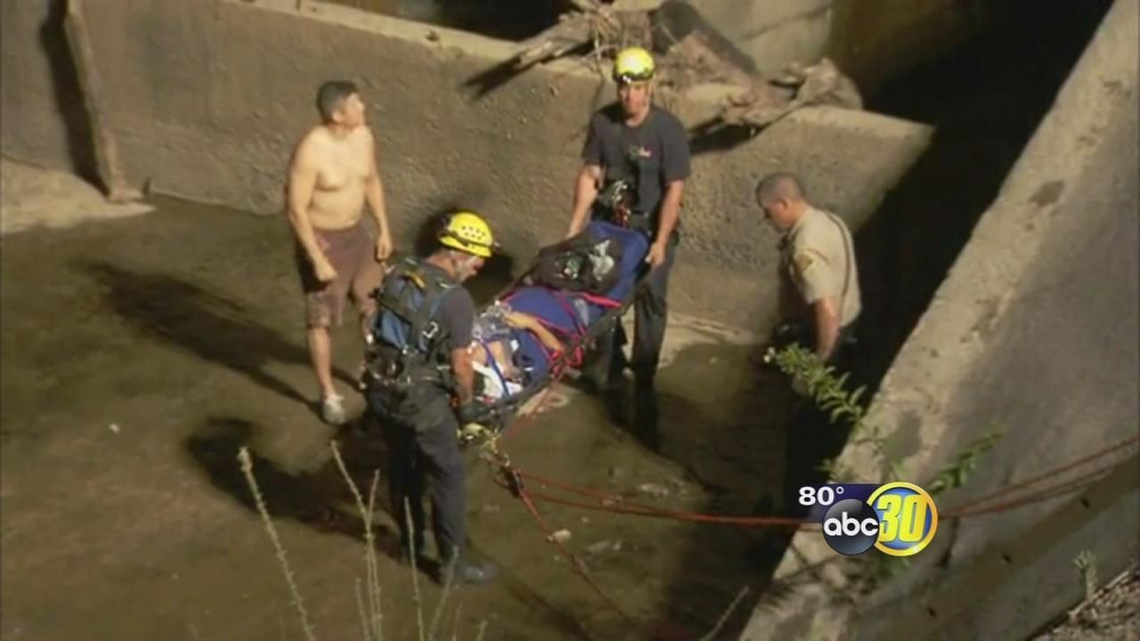 Injured man rescued from Kings River in Kings County