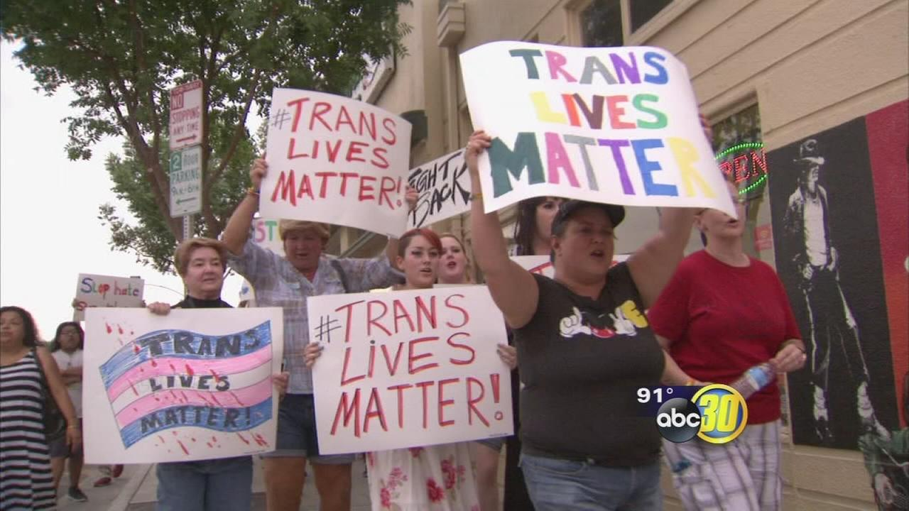 Fresno LGBT hold vigil for K.C. Haggard, calls for an end to violence