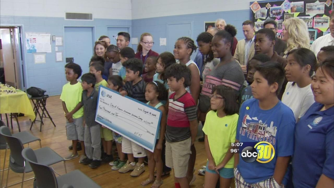 AT&T awards $5,000 grant to Fresno science camp