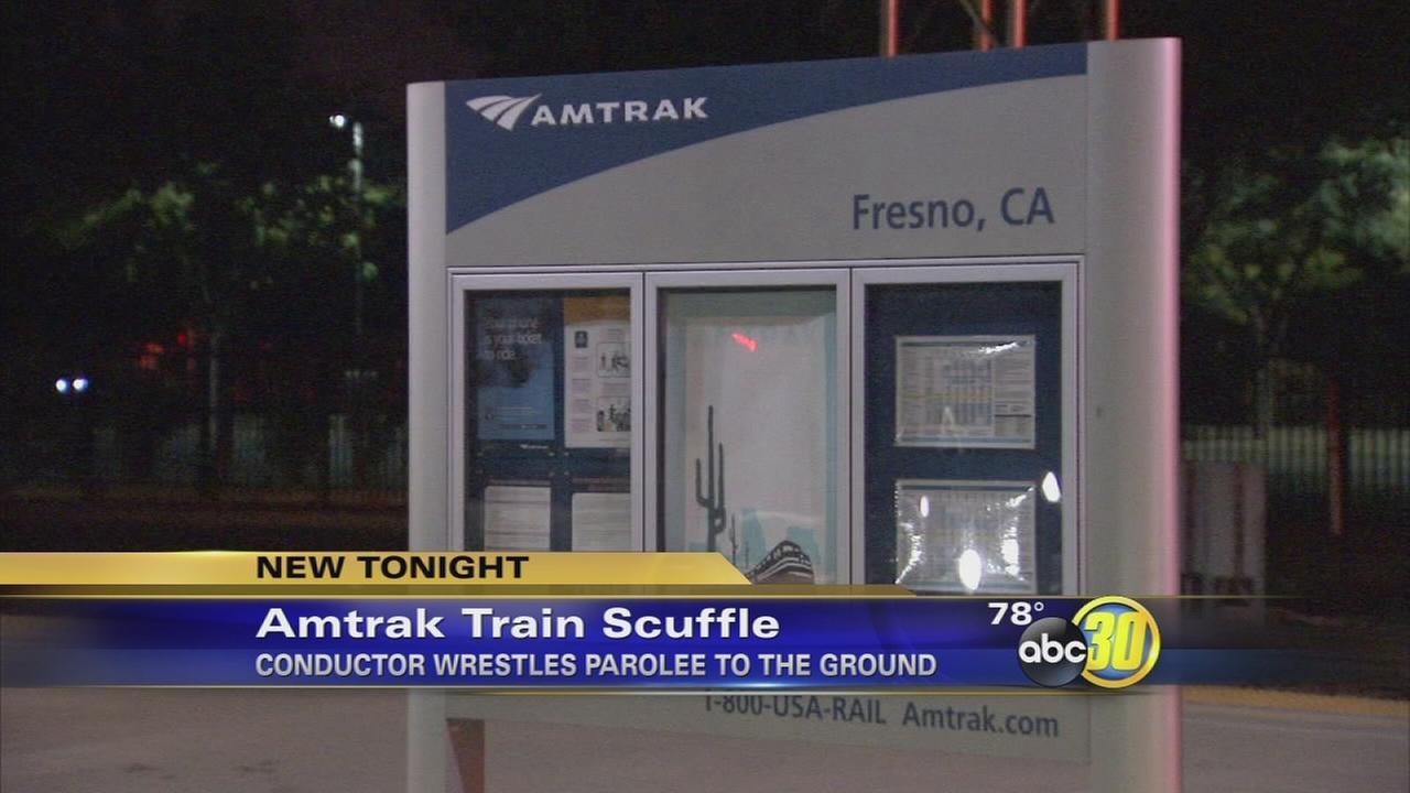 Fresno police arrest parolee after scuffle on Amtrak train
