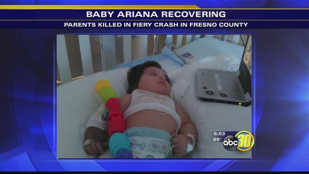 Baby girl recovering from Fresno County crash that killed her parents