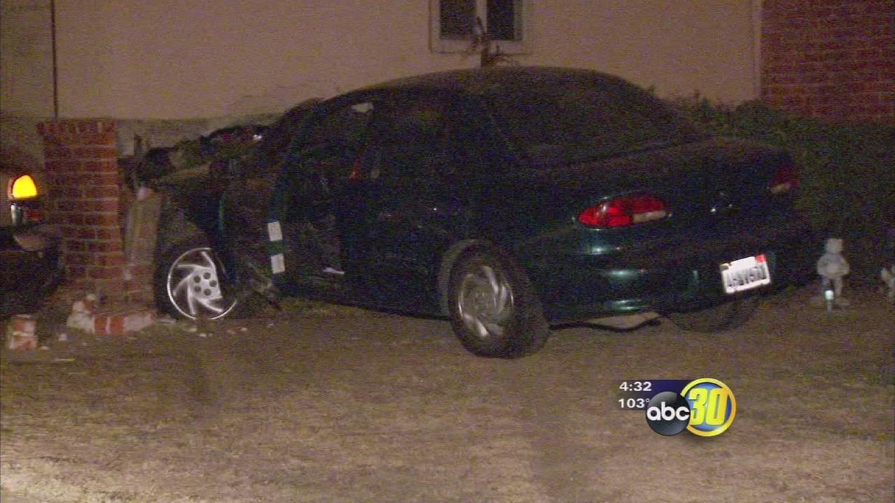 Fresno man pulls gun on woman trying to help him after crashing his car into her house, police say