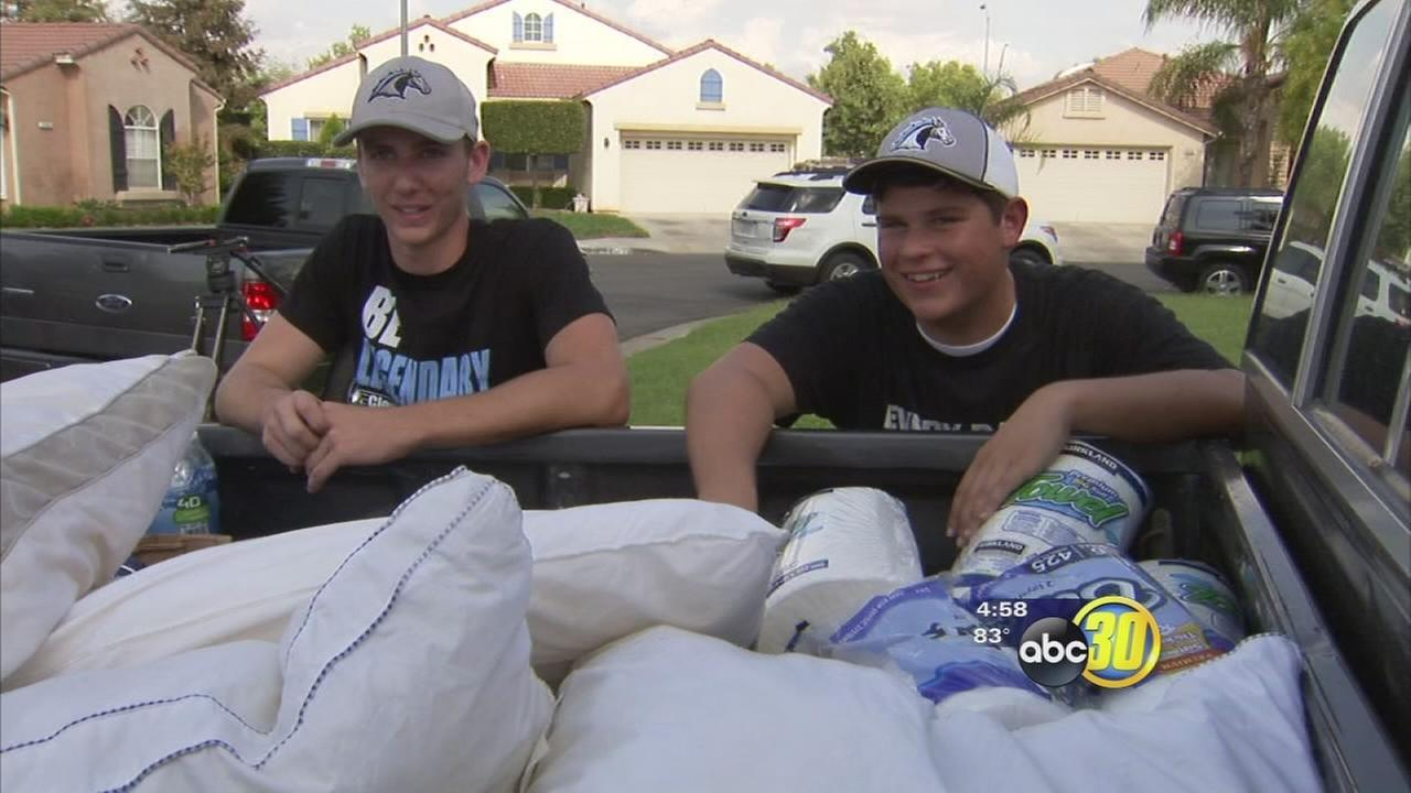 Clovis North students behind goodwill gesture for firefighters battling Rough Fire