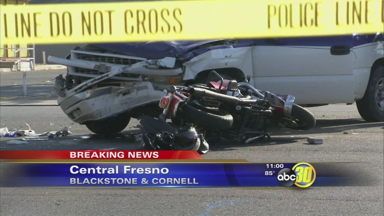 Man driving Harley Davidson motorcycle dies after crash in Central Fresno