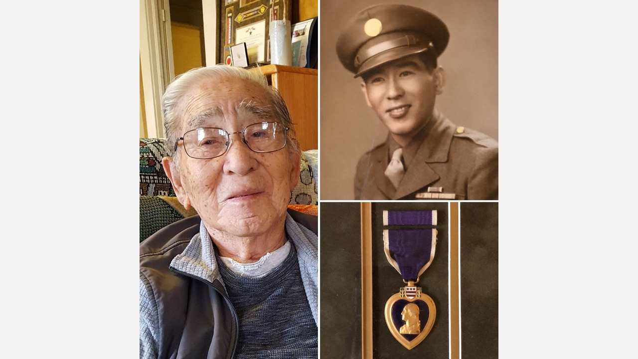 Special Veterans Day for Sanger Purple Heart recipient celebrating 100th Birthday