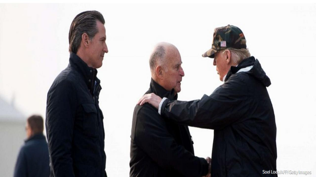 President Trump arrives in California to tour fire damage