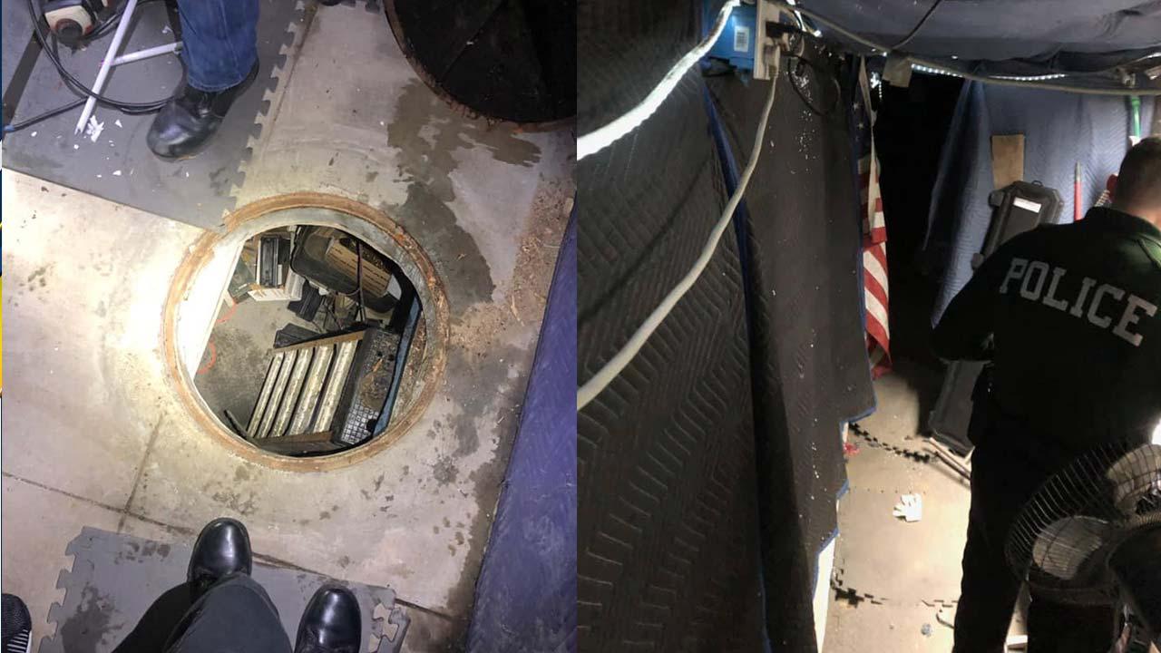 Fontana police find secret underground chambers hidden under manhole cover