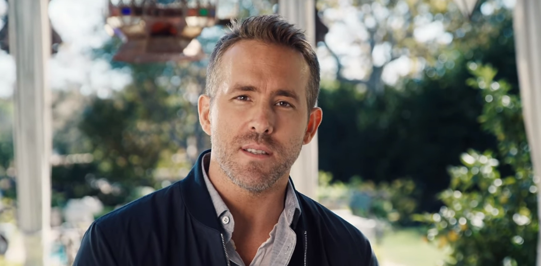 A still from Ryan Reynolds new promotional video for Aviation Gin.