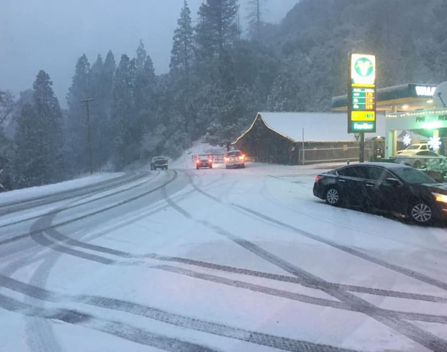 Area of Highway 41 closes due to unsafe roads amid heavy snowfall, rain