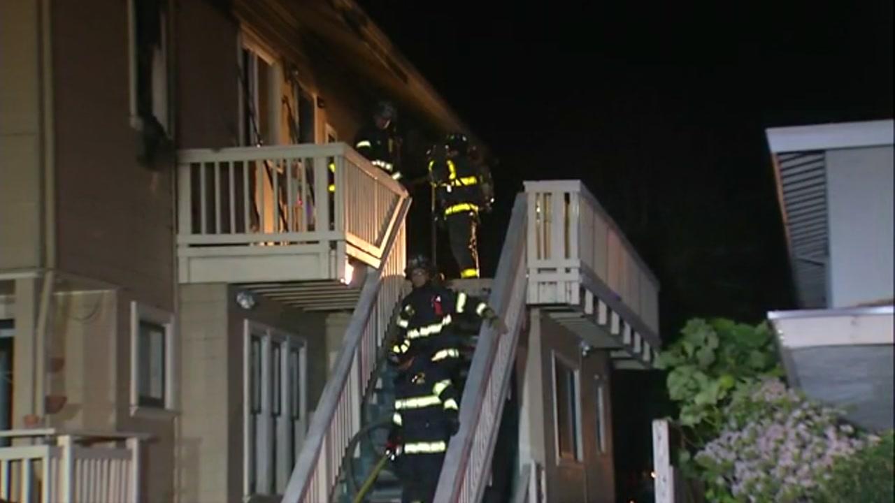 Fire in San Jose, California on January 1, 2019.