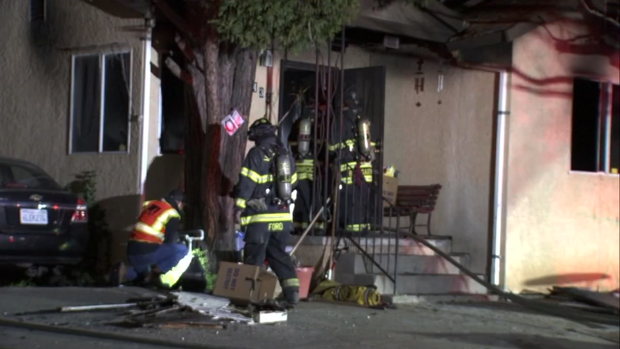 House fire in Vallejo, California on Tuesday, January 1, 2019.