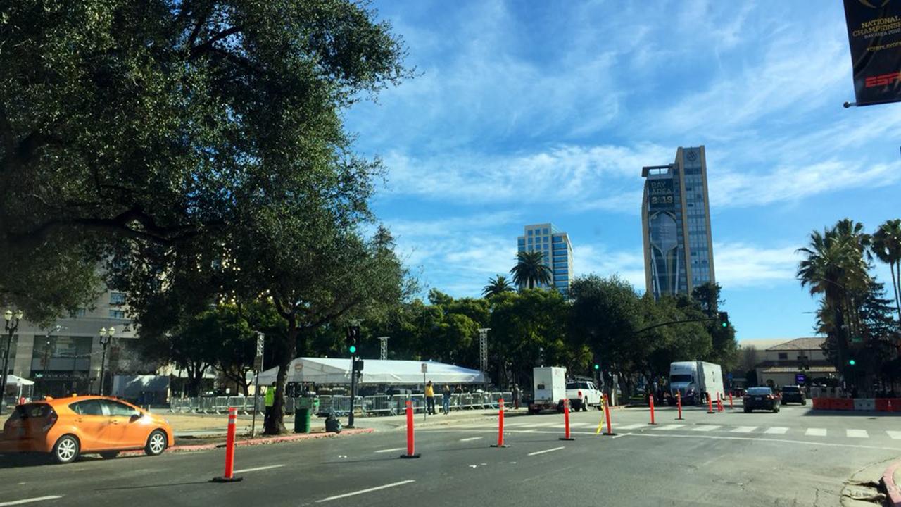 Plaza de Cesar Chavez in San Jose.